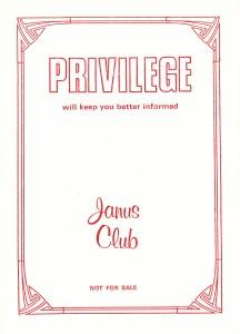 Privilege 1 Front Cover
