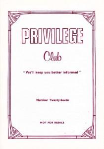 Privilege Club 27